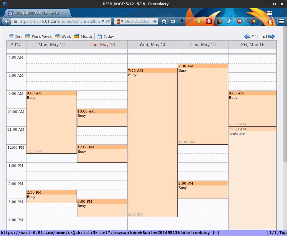 My public calendar