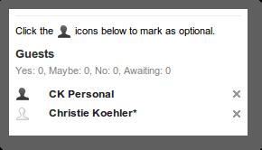 optional attendee field in Google Calendar