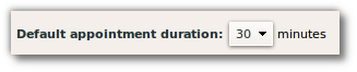zimbra default appt duration
