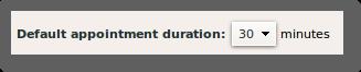 zimbra default appt duration