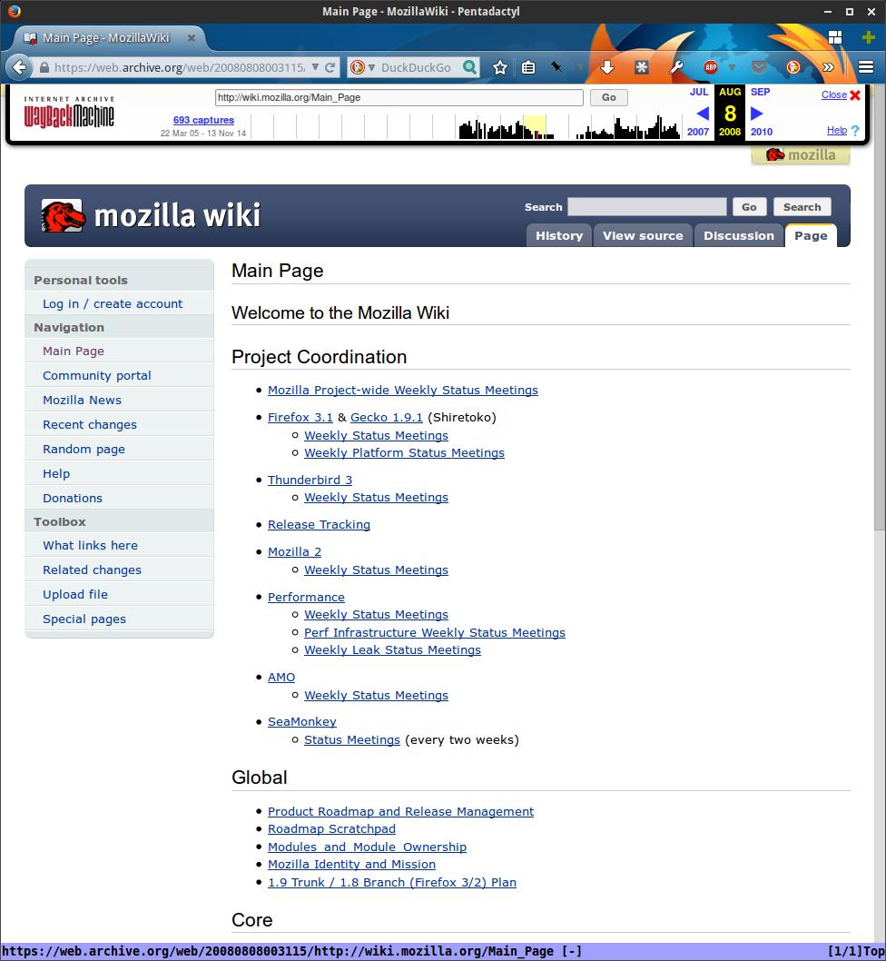 MozillaWiki August 2008
