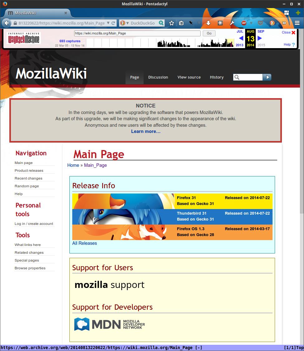 MozillaWiki August 2013
