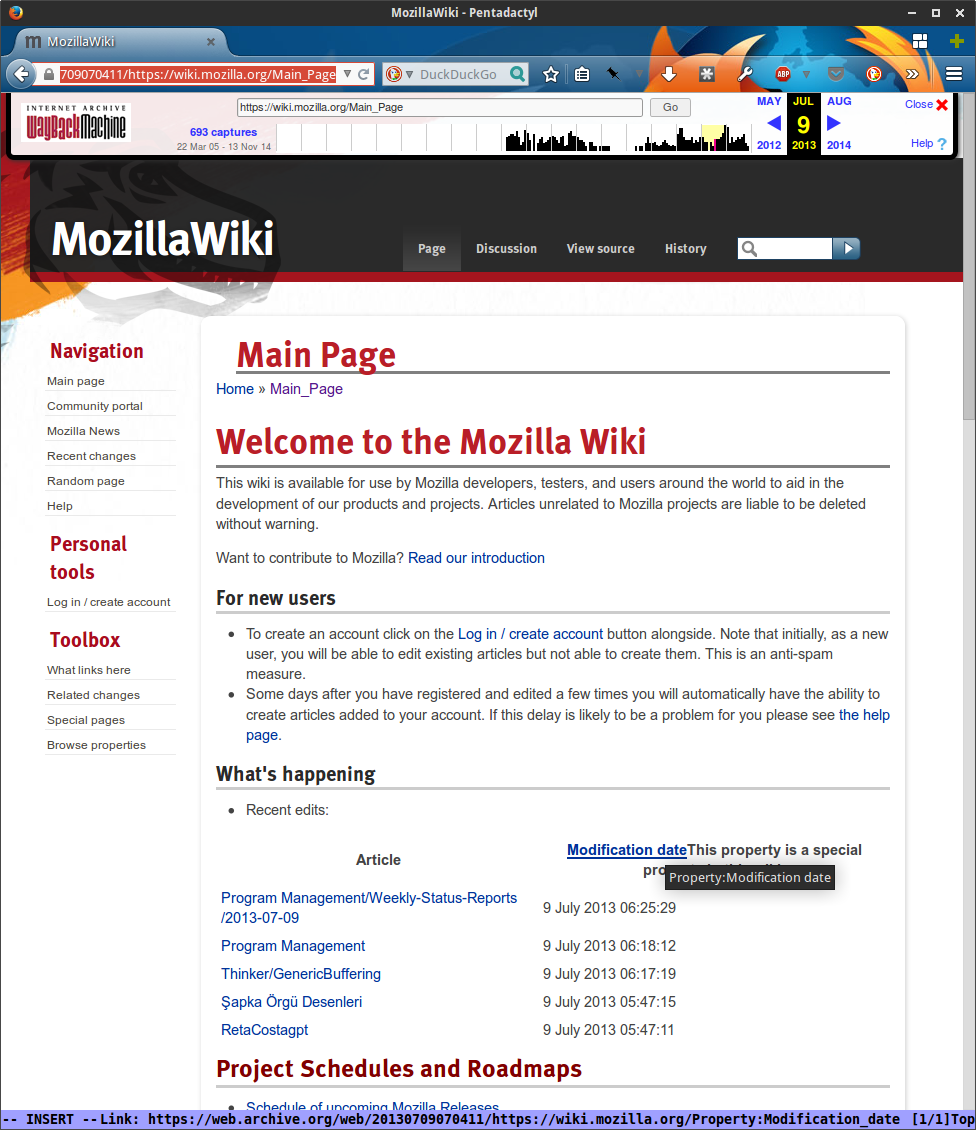 MozillaWiki July 2013