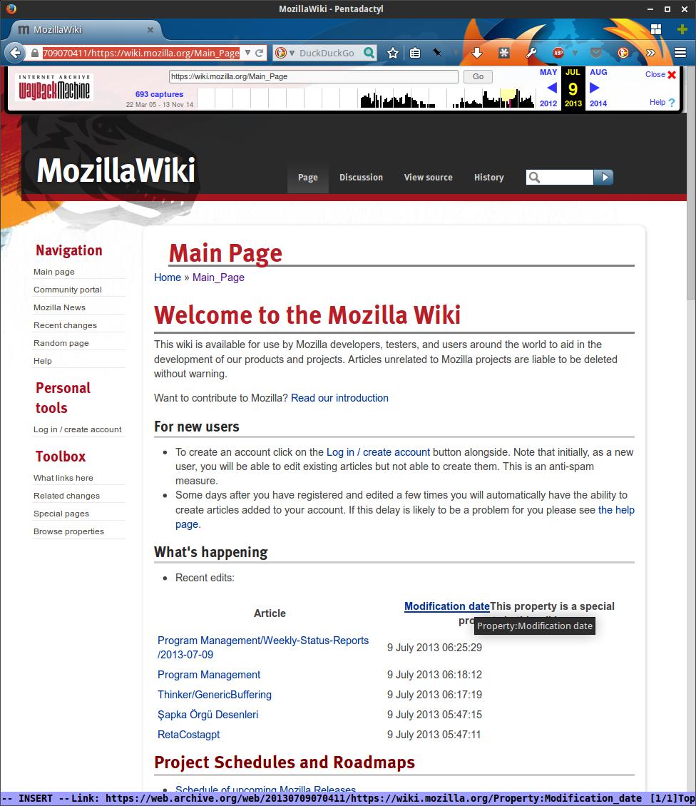 MozillaWiki July 2013
