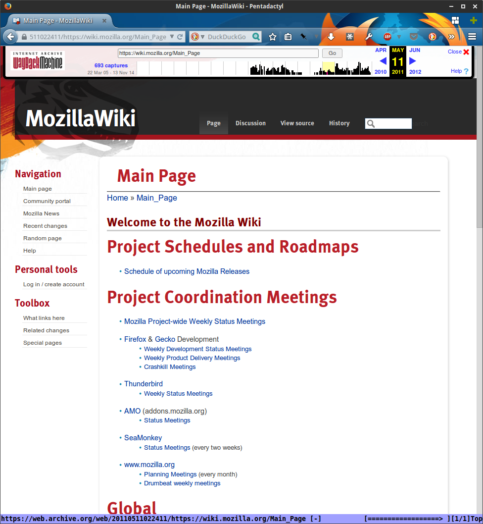 MozillaWiki May 2011 - New GMO skin