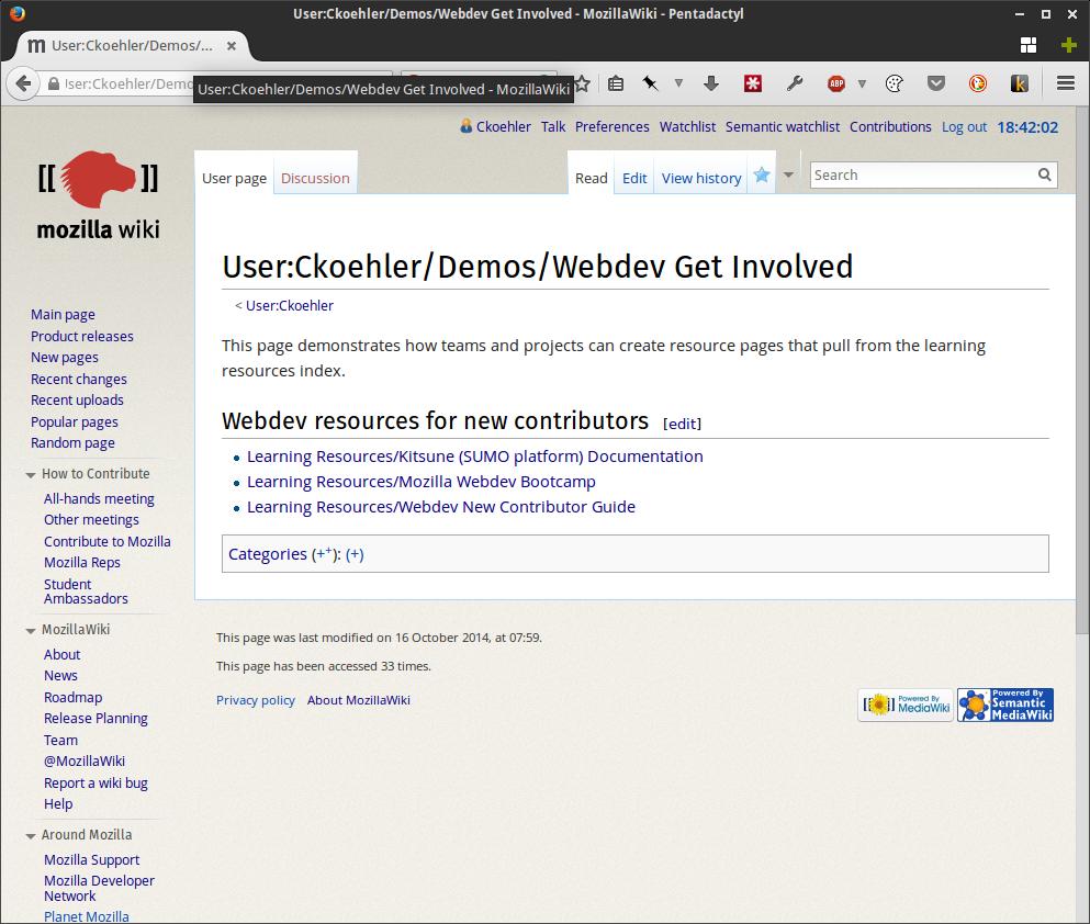 User:Ckoehler-Demos-Webdev Get Involved - MozillaWiki - Pentadactyl_380