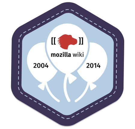 MozillaWiki 10th Birthday Badge
