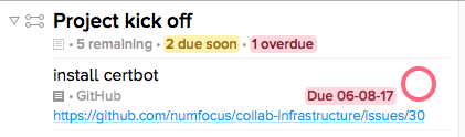 Task in OmniFocus after it has been parsed from Inbox.